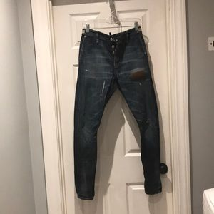 DSQUARED Button fly jeans SIZE 42 Made in Italy